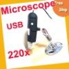 USB 220X 1.3MP 8-LED USB Digital Microscope ,USB Microscope,5X to 220X