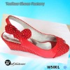 fashion wedge slippers 2012 with bow