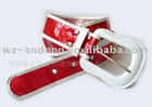 red fashion pvc belt