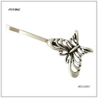 Charm Butterfly Silver Alloy Imitation Hairpin, Fine Head Accessory