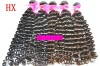 5A Grade Virgin Brazilian Hair Weaving,Deep Wave