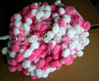 Big Pom pom Mulberry Fancy Yarn, Hand Knitting Crocheting Yarn made in China, Small Order Acceptable (POM004)