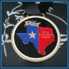 Zinc alloy casted soft enamel souvenir medal(gold)