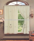 embroidery linen fabric curtain