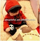 Wool and fur in one soft outsole baby snow boots male girls shoes baby toddler shoes wool shoes genuine leather