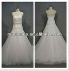 Strapless Real Sample Sweetheart Wedding Dresses 2013 lace bead bridal dresses 2012 lace up back wedding gown