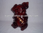 mahogany wood pig wooden carving craft