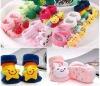 Animal head anti slip indoor fashion design knitted socks for baby