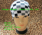 white 100%acrylic Stripe Boy Knitted double layer Beanies