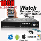 16CH Channels H.264 Surveillance CCTV Standalone DVR Digital Video Recorder DVR Support Remote View via Mobile AT-DVR8516H-TD