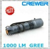 2012 Hip CREE 1000lm Flashlight Torch wholesale price&free shipping