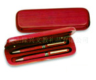promotion Wood double Pen Box with logo