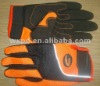 orange mechanic glove/synthetic fabric Paddex mechanic Gloves/cuff with strap/CE2142/breathable