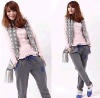 2011winter factory price ! good quality thicken 100% cotton casual fashion women's trousers with printed