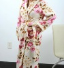 printed coral fleece bathrobe/Coral fleece women bathrobe
