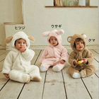 Baby Animal Fleece Rompers Jumpers