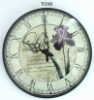 Quartz glass wall clock,plastic wall clock