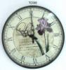 Quartz glass wall clock,plastic wall clock