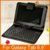 Free Shipping Deluxe Luxury Hot Selling Handmade Leather Case Cover For Galaxy Tab 8.9 LF-0424