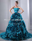 real new fashion sweetheart hunter floral ruched blue quinceanera dress IMG-8223