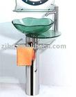 glass basin Vanity