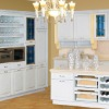 Modern European Style White Color Solid Wood Kitchen Cabinet AK26