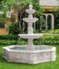Natural hand-made white marble garden hanging water fountain