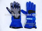 Go Kart Racing Glove, Alcantara Car Racing Glove( Blue)