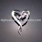 fashion rhinestone brooch made of alloy ha18-28