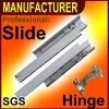 Soft closing full extension undermount drawer slide(Rebound slide)