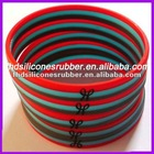 colorful three layer silicone wristbands corporate gift items