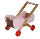 wooden baby pram
