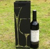 High quality paper wine bag with gold stamping