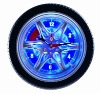 "14"" LED Tire Wall Clock -- DL06E"