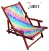 215 Heat Sublimation Printing Wooden Beach Chair with Armrest