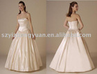 Floor length A-line wedding dress