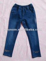 Denim cotton boy jeans boys elastic waist jeans