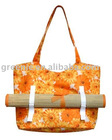 Printing Shoulder Bag With Roll Up Straw Mat-12-TB-028-02
