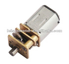 6v 1:1000 ratio 5.5kg.cm high stall torque low rpm small dc gear motor