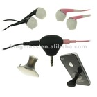 New Audio 3.5mm Jack Double Headphone earphone splitter Stand N Splitter for iphone ipad