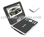 7inch portable dvd player with TV,DVD,GAME,FM,USB,SD,COPY