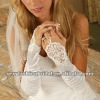 beautiful neck lace accented wedding gloves