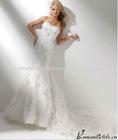 AE9038 new design hot sell elegant white feathers wedding dress 2013