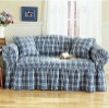 Plaid Plain Sofa Cover