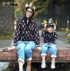 New Autumn clothes---Dinosaur Horn Cap personal Parent-child loaded long sleeve sweater for Mother and son 4071