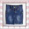 Girls` Denim Skirt 100 cotton embroideried back pockets