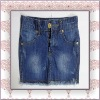 Girls` Denim Skirt 100 cotton embroideried back pockets