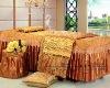 2012 luxury golden queen size beauty salon duvet cver set