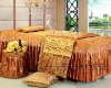 2012 luxury golden queen size beauty salon duvet cver set