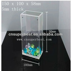 modern transparent rectangle acrylic vase